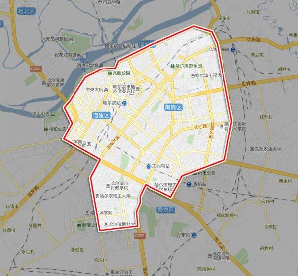 哈尔滨西站地图