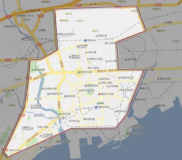 唐山秦皇岛地图